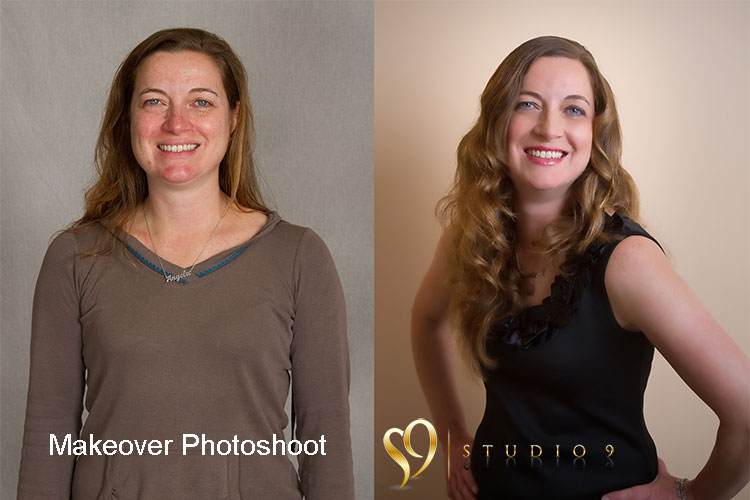 Makeover portrait photography