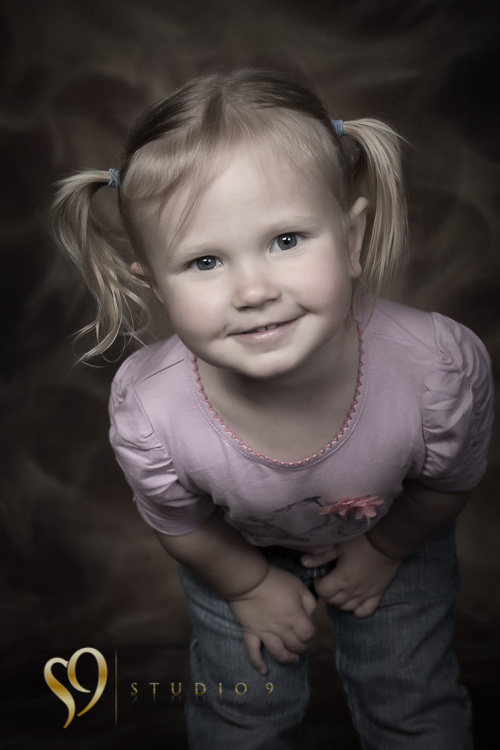 Cute girl. Photography by studio9, Wellington.