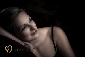 Boudoir portraits in Wellington studio.
