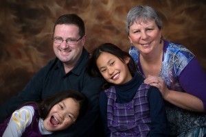 Fun family portraits in the studio.