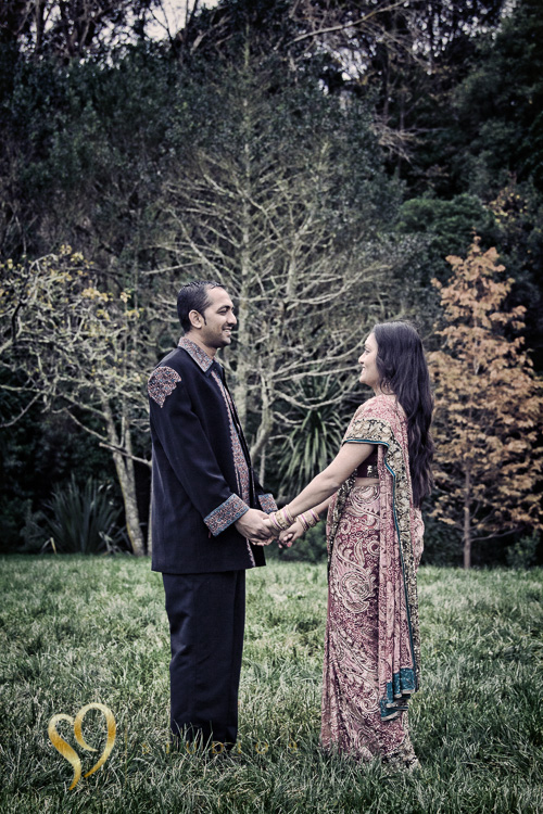Indian couple portraits on location in Tawa park.