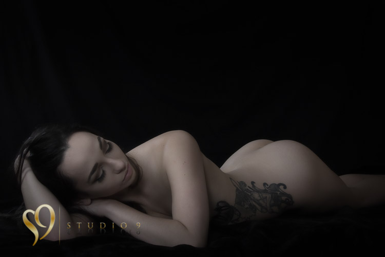 Soft art nude portrait in the Wellington studio.
