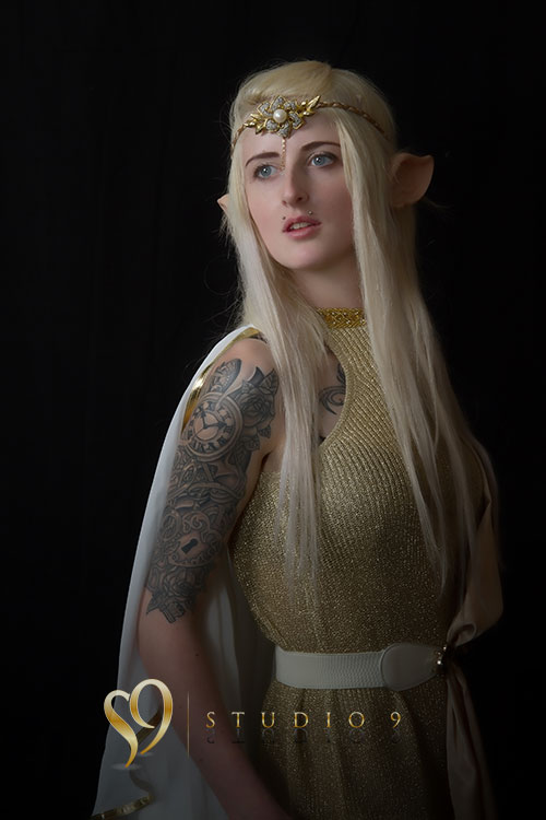 Elf maiden costume photoshoot.