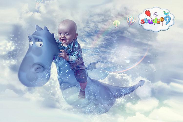 Fantasy dragon photoshop edit by Studio9 and Barbara Hall.