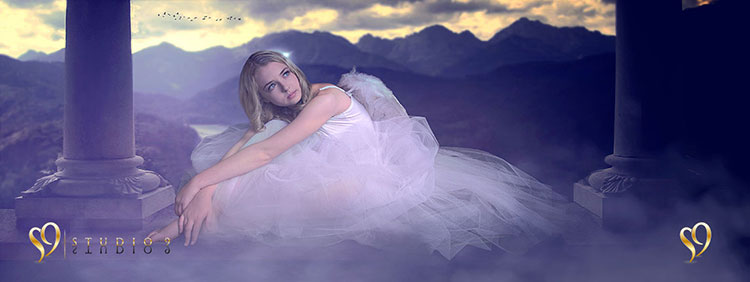 Fantasy ballerina photoshop edit by Studio9 and Barbara Hall.