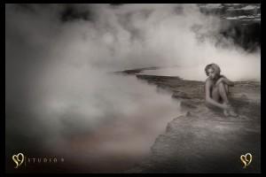 Boudoir portrait and photo edit by Studio9.